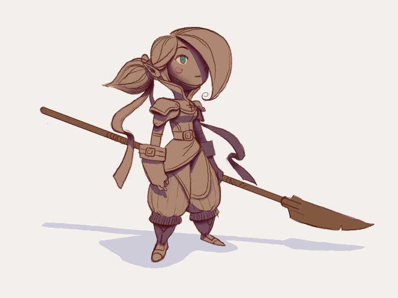 Lancer class character design character concept character design illustration fantasy art fantasy