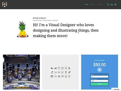 Visual Design Portfolio webflow webdesign motion design visual design visualdesign