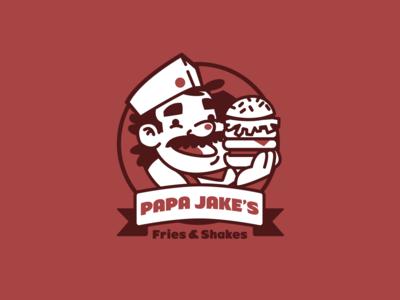 Papa Jake's Fries & Shakes logo