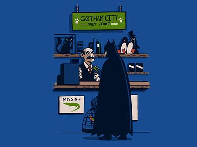 Gotham City Pet Store illustration batman