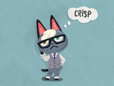 Animal Crossing Raymond illustration art nintendo animal cat raymond acnh animal crossing