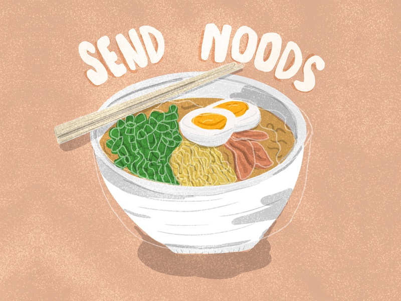 Send noods food illustration punny illustration noods send noods bowl of ramen bowl food asian food ramen noodles ramen noodles