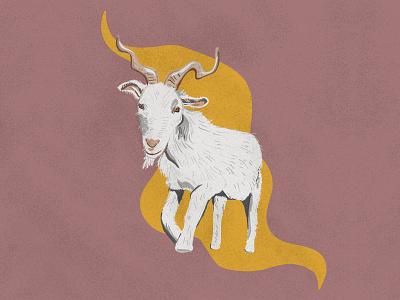 Twirly goat procreate art procreate illustration animal goatee horns abstract animals logo animals twirl goats goat