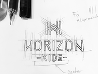 "The might ""H"" logo sketch"