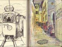 Random illustrations in notepad
