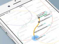 Milan Metro App, WIP