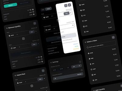 Safemoon - Swap minimal website motion graphics webapp app ux logo exchange graphic design component pool financial wallet safemoon swap cryptocurrency crypto design ui