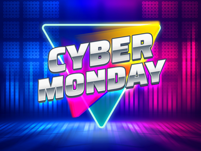 Cyber Monday special cyber monday offers typography vector icon logo illustration design branding