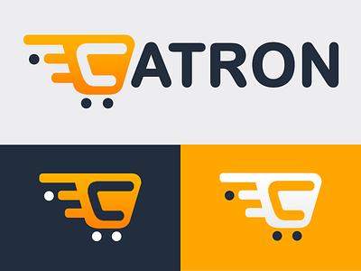 Catron Online Shopping dibbble ball app blue typography dribbble vector icon design logo illustration branding