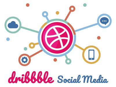 Social Media illustration design social media graphics dribbble