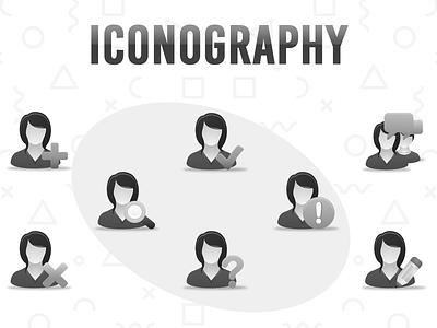 Iconography dribbble icon illustration branding