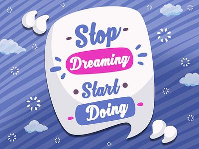 Typography dreaming cloud typography dibbble ball blue icon vector dribbble logo illustration design branding
