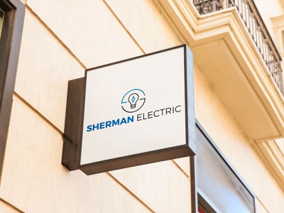Sherman electric logo design design typography vector icon logo illustration branding