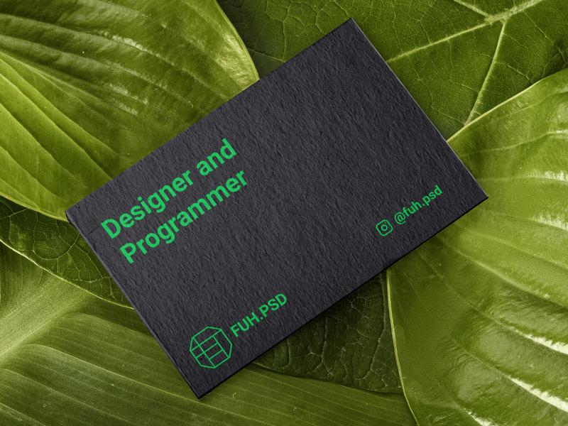 FUH.PSD Business card business card card branding design designs vector logo branding design