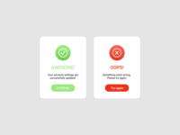Daily UI #011 Flash Message (Error/Success)