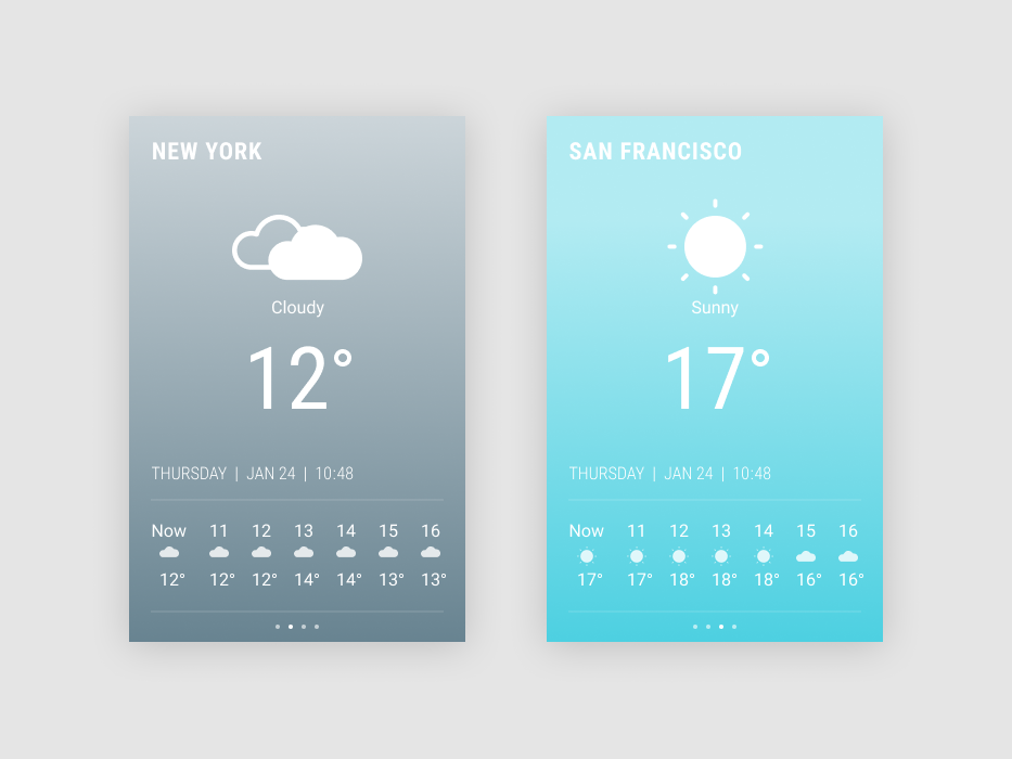 Daily UI #037 Weather 037 dailyui