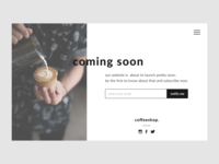 Daily UI #048 Coming Soon