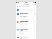 Daily UI #050 Job Listing