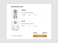 Daily UI #058 Shopping Cart