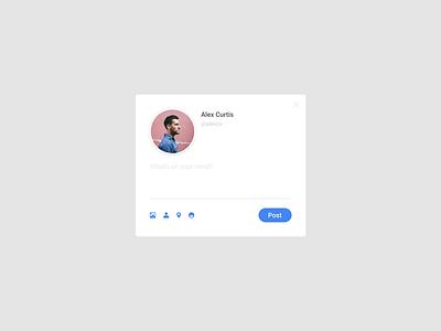 Daily UI #081 Status Update 081 dailyui