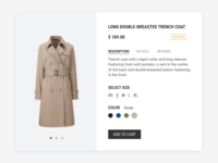 Daily UI #096 Currently In-Stock