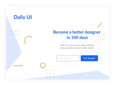 Daily UI #100 Redesign Daily UI Landing Page