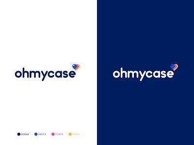 OHMYCASE- logo design brand mark phone case brand phone case typeface logo mark logo design logo