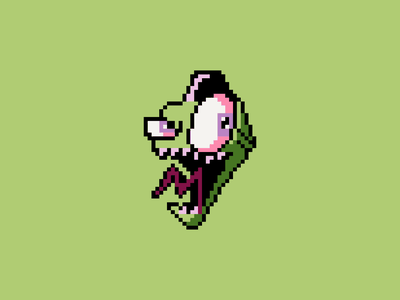 Invader Zim - Pixel Art show videogame character design character zim inavder graphic icon design icons pixelart pixel icon vector