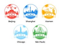 Motorola CXD design studio logos