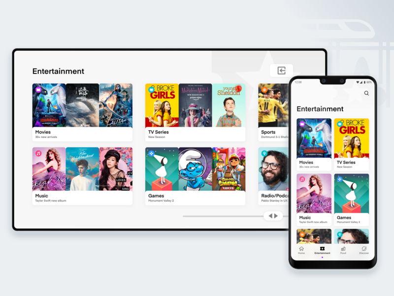 Transportation Sync with TV ux user inteface ui design trend2020 trend2019 apple app sketch dashboard ios android