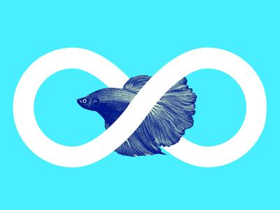 Always On Betta betta fish infinity infinite always entrepreneur startup motto free poster download