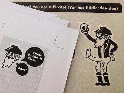Riso Pirate sailor captain leg shakespeare hamlet pirate risograph risography riso