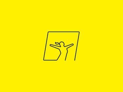 Daily Breath woman gym breath daily pilates symbol logo