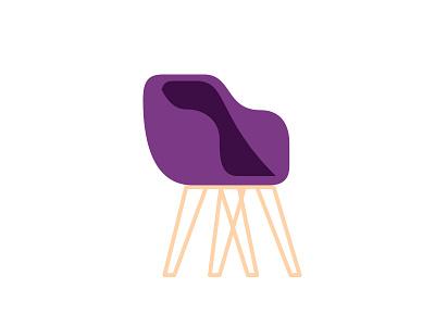 Fancy Chair modernism modernist purple reception lounge fancy chair