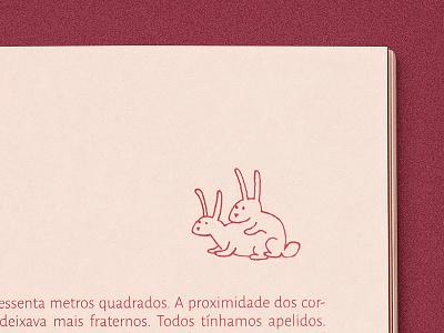 As Preciosas Coisas Banais sex love couple bunnies rabbit bunny drawing illustration editorial book