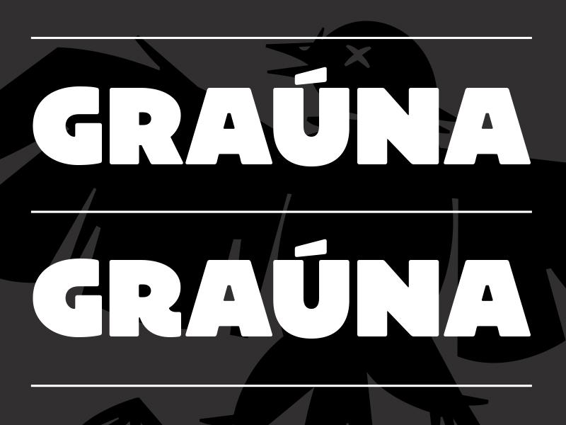Graúna ultra typography type sans revival heavy font display bold block
