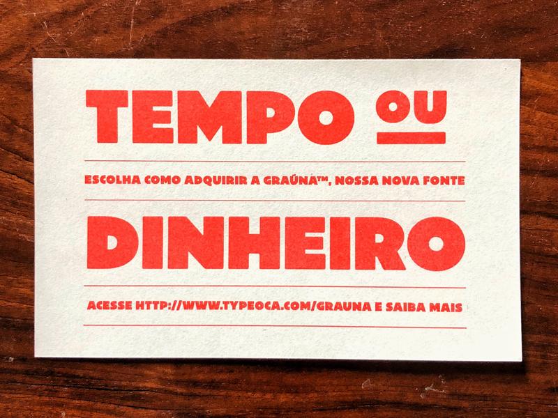 Graúna — Promo typeface typography font type offer promotion promo