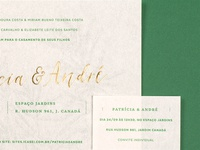 Patrícia & André wedding invitation print hotstamp hotstamping hot gold foil card invite invitation wedding
