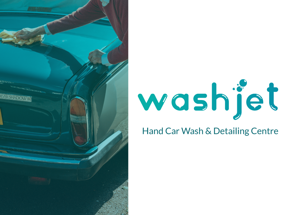 Car Wash - Logo Concept Idea - Washjet fresh water concept illustrator wash logodesign logo cars carwash