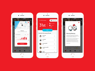 Meetup App - RSVP details visual identity visual design ux ui typography mobile ui mobile app illustration iconography design branding design branding app