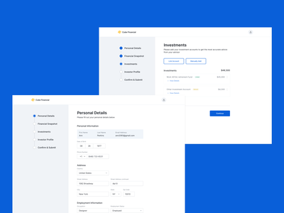 Proposal Tool - Onboarding Client desktop app desktop design desktop ui visual design app web typography ux ui design