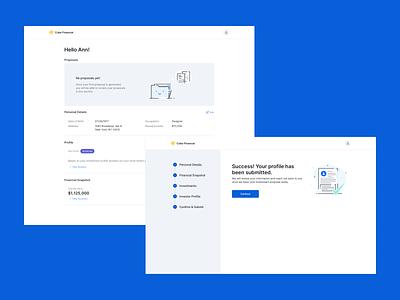 Proposal Tool - Client dashboard illustrations web visual design ux ui typography desktop ui desktop design desktop app design app