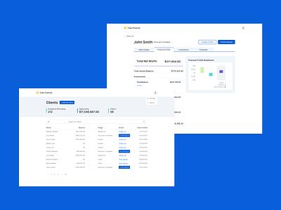 Proposal Tool - Advisor Dashboard graphs visualizations web visual design ux ui typography desktop ui desktop design desktop app design app