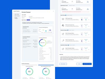Proposal Tool - Report data visualization visualizations graphs web visual design ux ui typography desktop ui desktop design desktop app design app