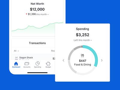 Personal financial management - Data Visualization mobile design graphics icon app ux ui typography mobile app mobile ui data visualization design