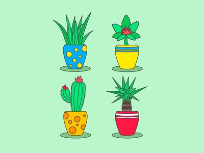 Plants and pots pot plant vector design illustration art