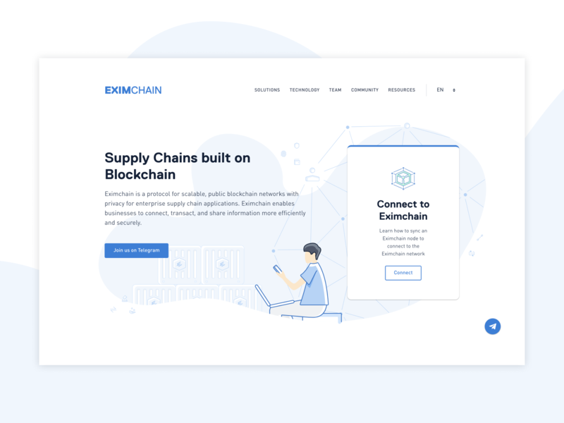 Eximchain Landing page web design webdesign web ux ui typography icon branding vector design illustration art