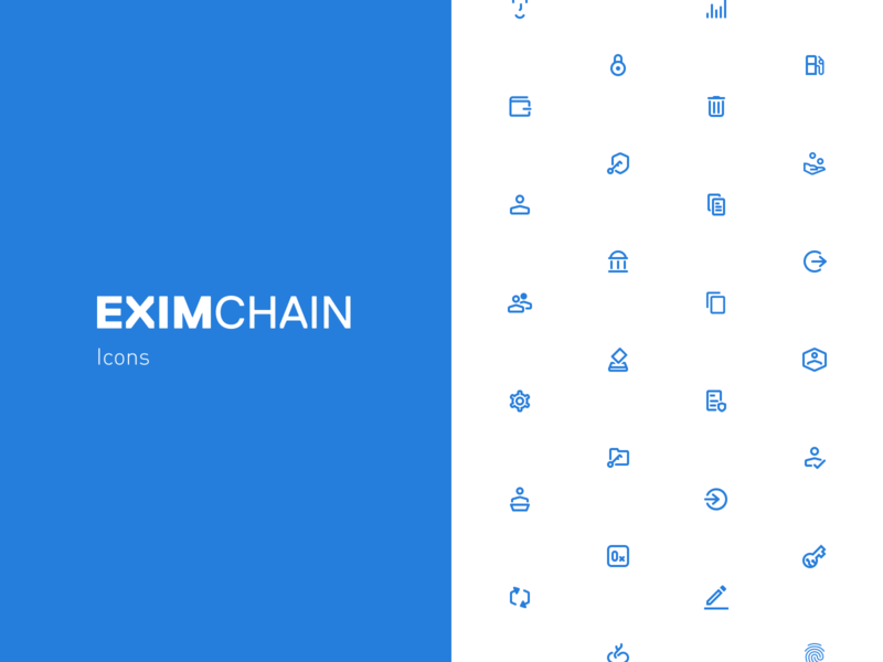 Eximchain Icons Set mobile web icon ux ui design vector illustration art