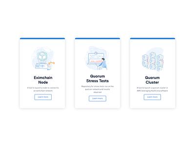 Eximchain Illustration set - Developers page branding and identity branding design website web flat ui ux typography icon branding vector design art illustration
