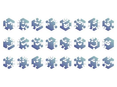 Logo — Tecla System — Variations logo design logotype logos logo identitydesign identity design identity branding identity branding design branding brand identity brand design brand generative design generative logo generative